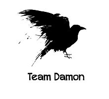 Team Damon: Raven Photographic Print