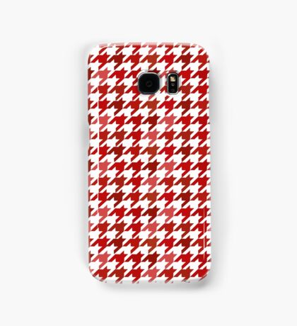 red Houndstooth iphone case Samsung Galaxy Case/Skin