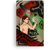 Commission: Bull and Max - Dragon Age Inquisition Tarot Card Canvas Print