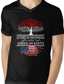 American - Living In Indonesia With American Roots T-shirts Mens V-Neck T-Shirt