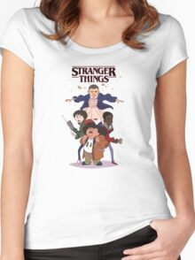 stranger things - kids Women's Fitted Scoop T-Shirt