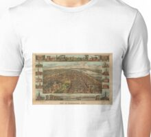 Vintage Pictorial Map of Harrisburg PA (1855) Unisex T-Shirt
