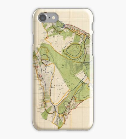 Vintage Map of Hawaii Island (1906) iPhone Case/Skin
