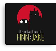 The Adventure Of Finn And Jake Canvas Print
