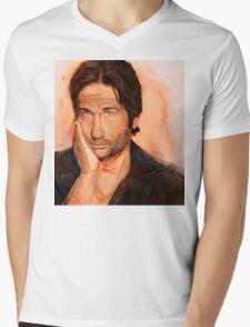 Hank Moody Mens V-Neck T-Shirt