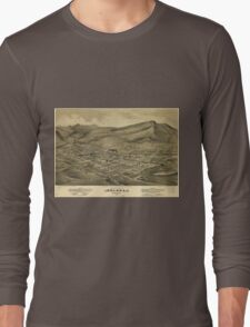 Vintage Pictorial Map of Helena Montana (1875)  Long Sleeve T-Shirt