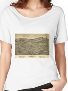 Vintage Pictorial Map of Helena Montana (1875)  Women's Relaxed Fit T-Shirt