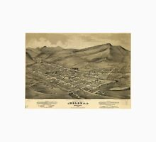 Vintage Pictorial Map of Helena Montana (1875)  Unisex T-Shirt