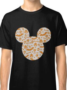 Halloween Spooky Pattern Mouse Silhouette Design Classic T-Shirt