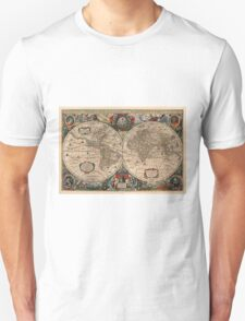 Vintage Map of The World (1641)  Unisex T-Shirt