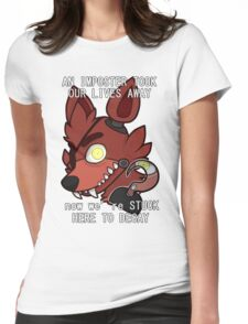 Foxy (TEXT) Womens Fitted T-Shirt