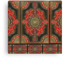 red and black book cover Canvas Print
