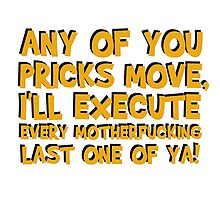 Quentin Tarantino Pulp Fiction Famous Popular Movie Quotes Film Cool Funny T-Shirts Photographic Print