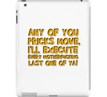 Quentin Tarantino Pulp Fiction Famous Popular Movie Quotes Film Cool Funny T-Shirts iPad Case/Skin