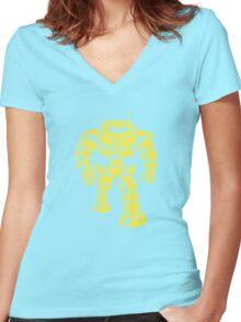 Manbot - Lime Variant Women's Fitted V-Neck T-Shirt