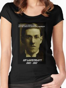 HP LOVECRAFT MEMORY Women's Fitted Scoop T-Shirt