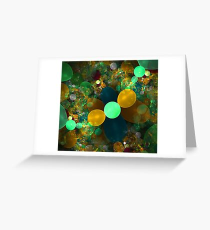 Fractal bubble graphic design Greeting Card