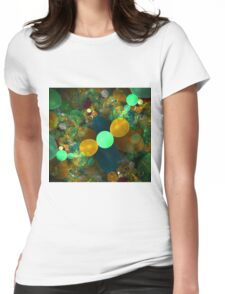 Fractal bubble graphic design Womens Fitted T-Shirt