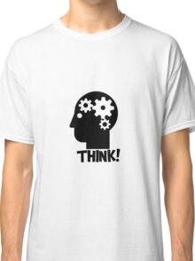 Clever Geek Smart Think Free Thinking Motivational Inspirational Spiritual Geeky Cool T-Shirts Classic T-Shirt