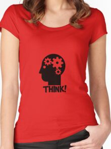 Clever Geek Smart Think Free Thinking Motivational Inspirational Spiritual Geeky Cool T-Shirts Women's Fitted Scoop T-Shirt