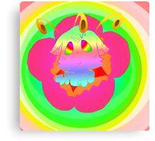 Radioactive Rainbows Bloom Canvas Print