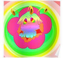 Radioactive Rainbows Bloom Poster