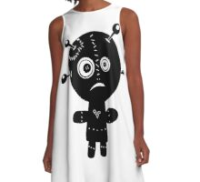 inky A-Line Dress