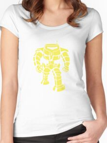 Manbot - Plain Blue Colour Variant Women's Fitted Scoop T-Shirt