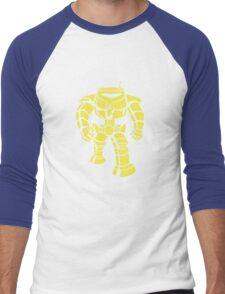 Manbot - Plain Blue Colour Variant Men's Baseball ¾ T-Shirt