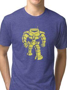 Manbot - Plain Blue Colour Variant Tri-blend T-Shirt