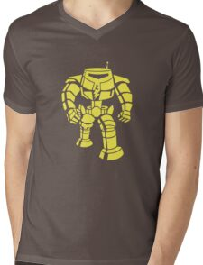 Manbot - Plain Blue Colour Variant Mens V-Neck T-Shirt