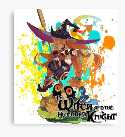 The Witch And The Hundred Knight Splatter Canvas Print