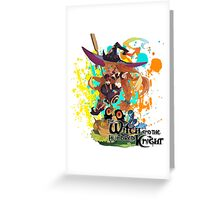 The Witch And The Hundred Knight Splatter Greeting Card