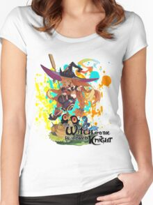 The Witch And The Hundred Knight Splatter Women's Fitted Scoop T-Shirt