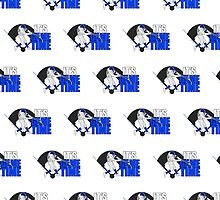 It's Game Time - Baseball (Blue) (Pattern) by Adamzworld