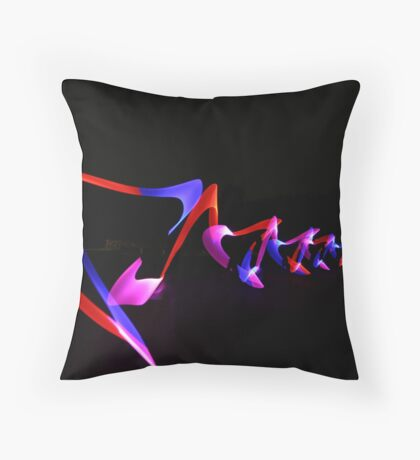 Abstract WOW - red, pink, purple Throw Pillow