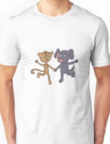 Cute and funny kitten and puppy  Unisex T-Shirt