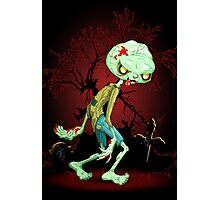 Zombie Creepy Monster Cartoon  Photographic Print