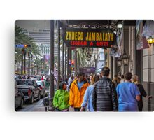 On The Street In The Big Easy Canvas Print