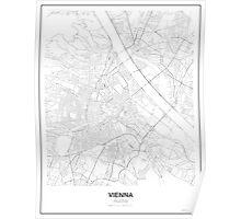 Vienna Minimalist Map Poster