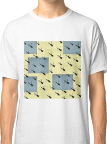 Helifly yellow and grey - Helimosca amarillo gris Classic T-Shirt
