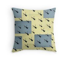 Helifly yellow and grey - Helimosca amarillo gris Throw Pillow