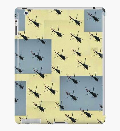 Helifly yellow and grey - Helimosca amarillo gris iPad Case/Skin