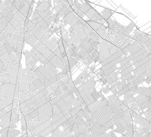 Buenos Aires Minimalist Map Sticker