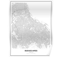 Buenos Aires Minimalist Map Poster