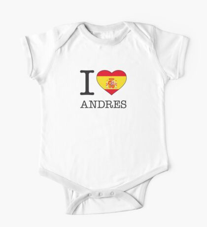 I ♥ ANDRES One Piece - Short Sleeve