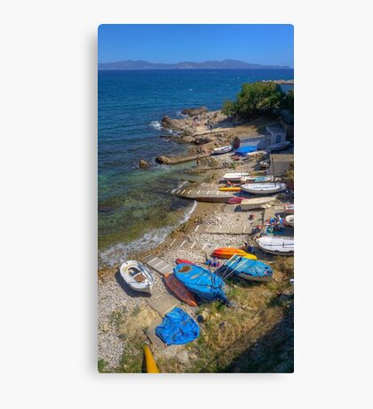 Fishing Harbour in L'Escala   Canvas Print