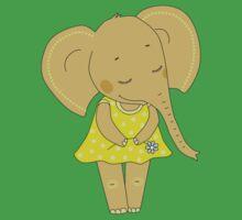 Cute elephant girl Baby Tee