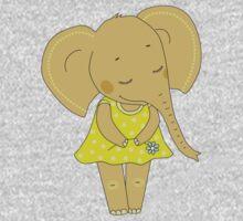 Cute elephant girl One Piece - Short Sleeve