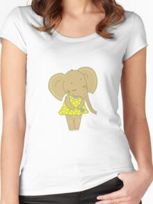 Cute elephant girl Women's Fitted Scoop T-Shirt